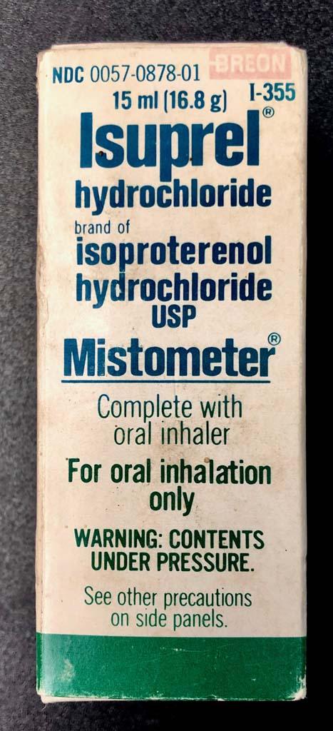 Isuprel Mistometer