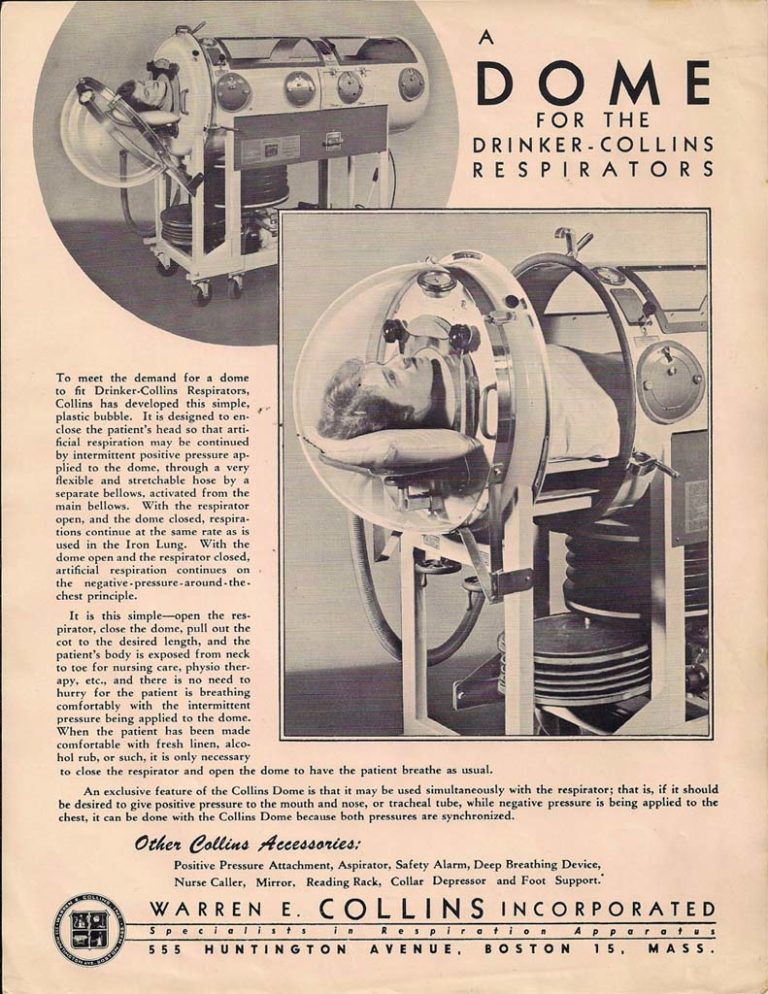 1950s Dome for Drinker-Collins Respirators