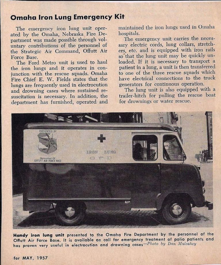 1957 Mobile Iron Lung Ambulance