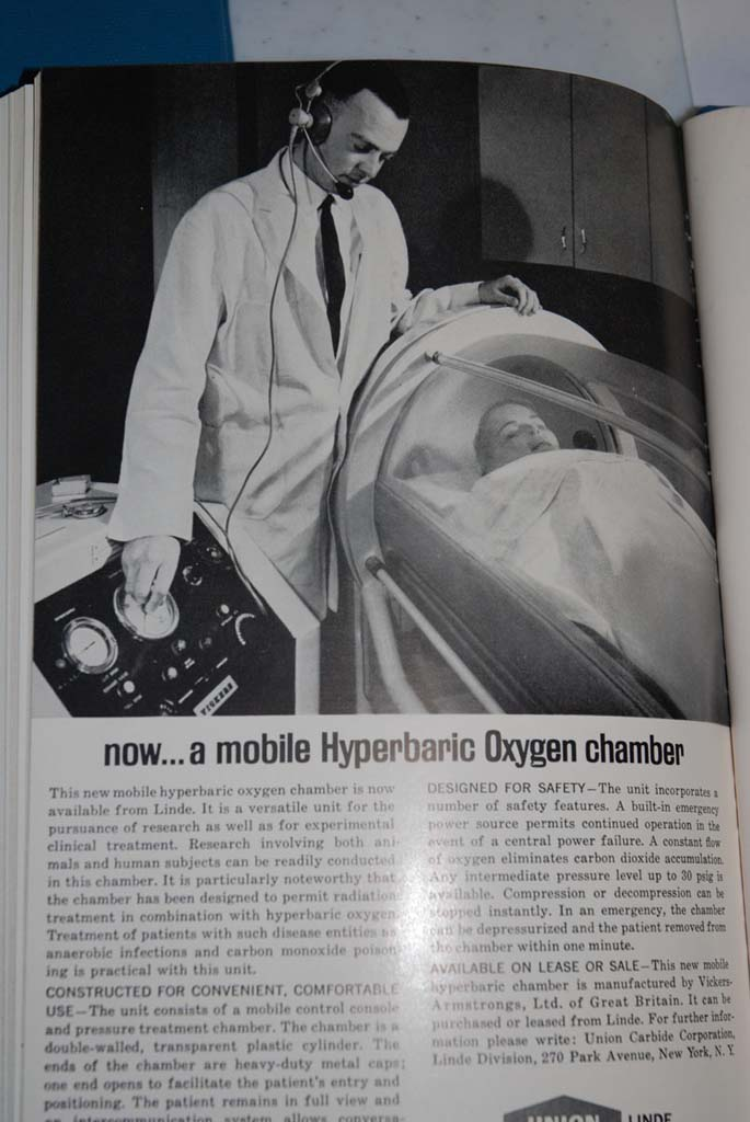 1960s Linde's Mobile Hyperbaric Oxygen Chamber