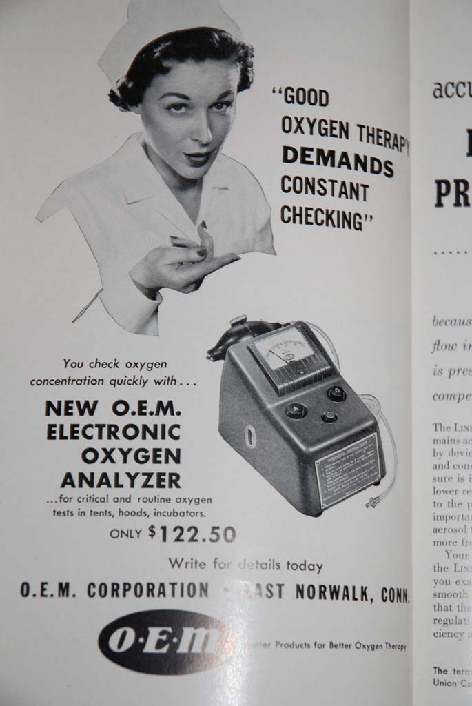 1950s OEM Electronic Oxygen Analyzer