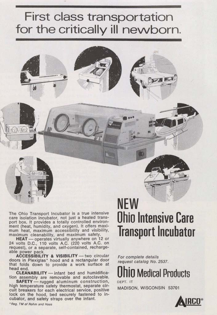 1970 Ohio Transport Incubator
